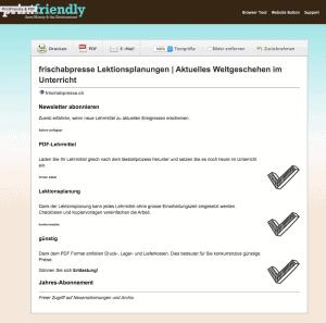 Interessante Texte im Internet drucken oder als PDF speichern. Ohne Menü, Bedienfelder, Werbung. Printfriendly sucht nur die zentralen Textbausteine.