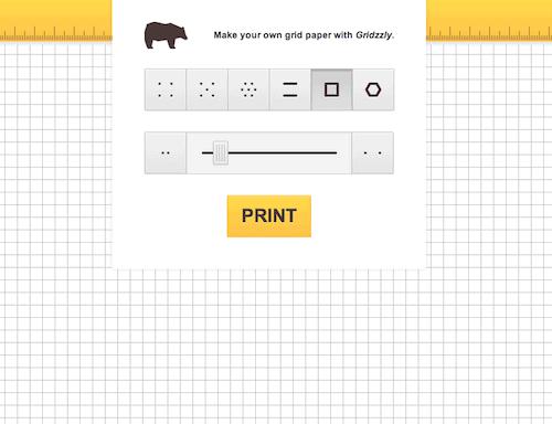 Fehlt das passende Papier, lässt es sich bequem ausdrucken, egal ob mit Punkten, Linien, Häuschen oder Waben. Stellen Sie gar die Grösse ein!