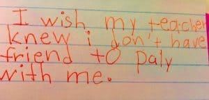 """Weil sie wissen wollte, was ihre Schülerinnen und Schüler wirklich bewegt, liess Kyle Schwarz diese anonymisiert den Satzanfang """"I wish my teacher knew ..."""" ergänzen."""