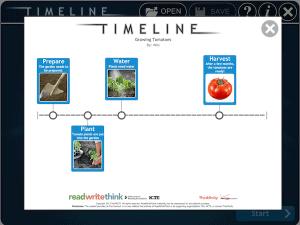 Mit dem Tool lassen sich ohne Registrierung Zeitleisten oder Abfolgen erstellen. Die einzelnen Punkte kann man bebildern und von Hand verschieben.